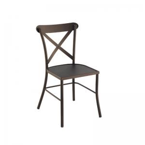 Chaise de jardin en métal noir - Manila