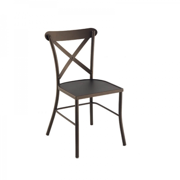 Chaise de jardin en métal noir - Manila - 1