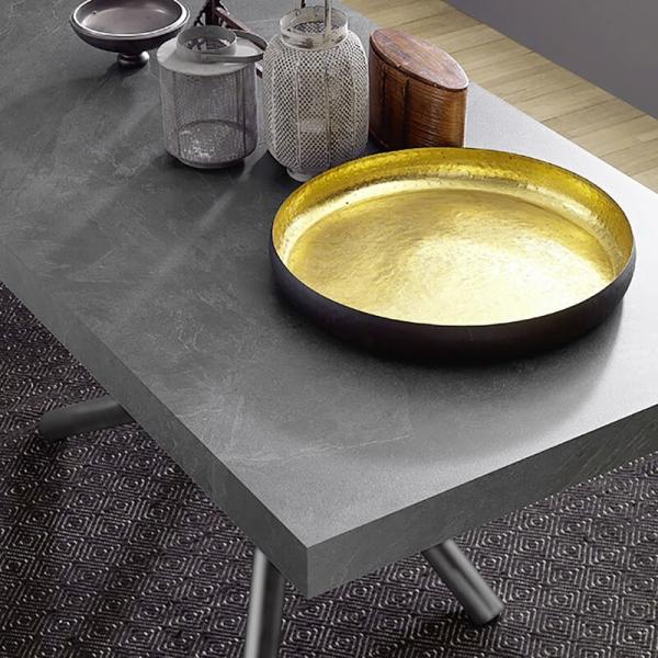 Table de fabrication italienne avec allonges et pied mikado - Fahrenheit - 6