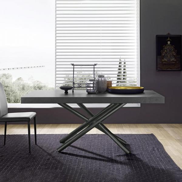 Table de salle à manger extensible design fabrication italienne - Fahrenheit - 3