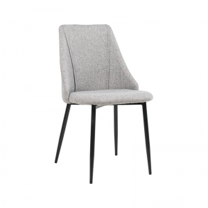 Chaise moderne en tissu et pieds métal - Salt