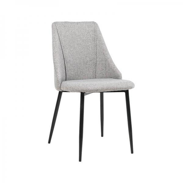 Chaise moderne en tissu et pieds métal - Salt - 1