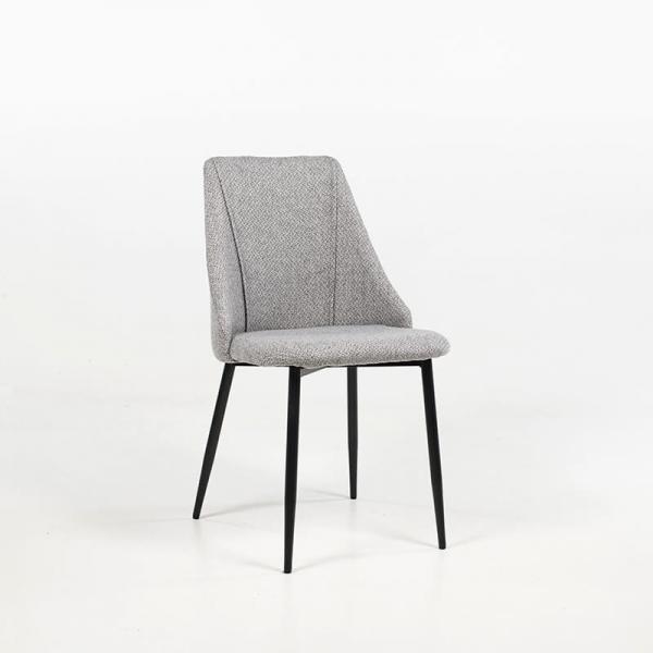 Chaise de séjour confortable en tissu gris clair - Salt - 2