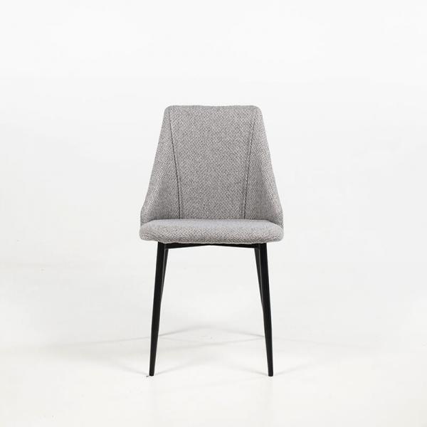 Chaise confortable en tissu et pieds métal - Salt - 3