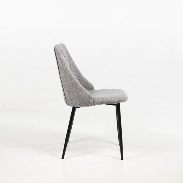 Chaise scandinave confortable en tissu - Salt - 4