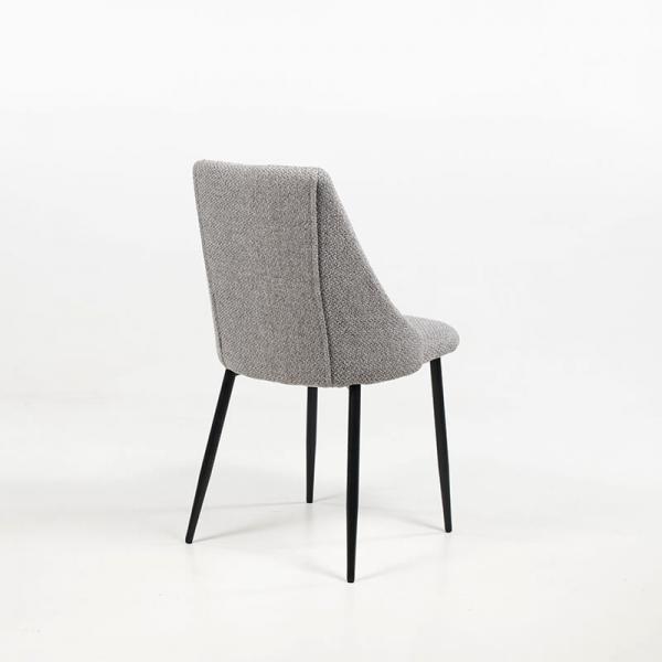 Chaise en métal et tissu confortable - Salt - 5