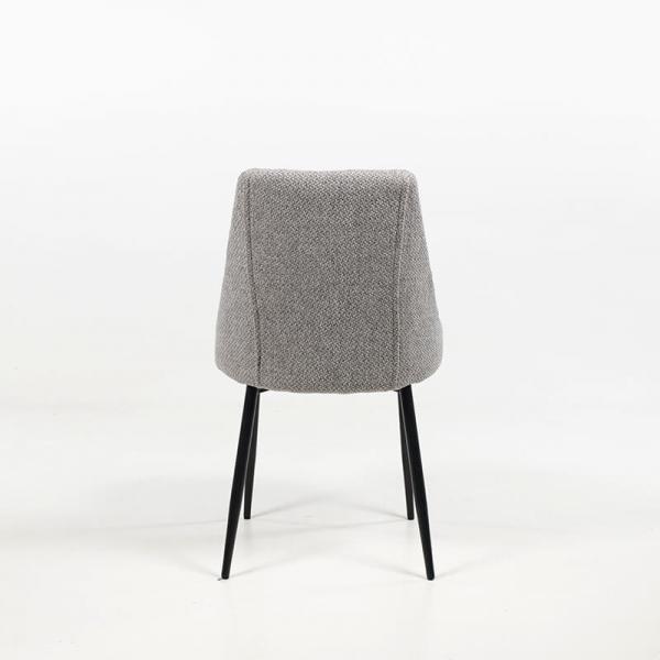 Chaise moderne confortable en tissu gris clair - Salt - 6