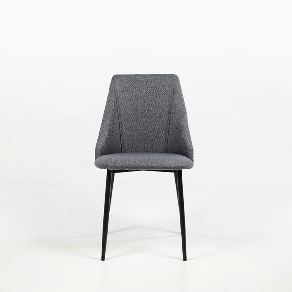 Chaise en tissu moderne piétement métal - Salt - 9