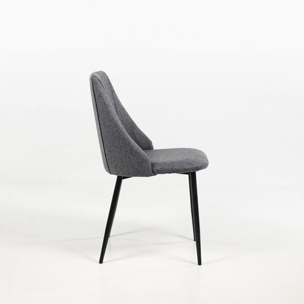 Chaise en tissu et métal confortable - Salt - 10