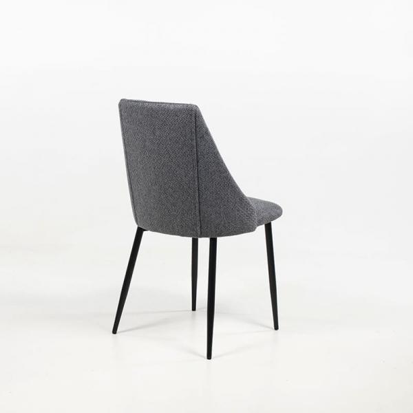 Chaise moderne confortable en métal et tissu - Salt - 11