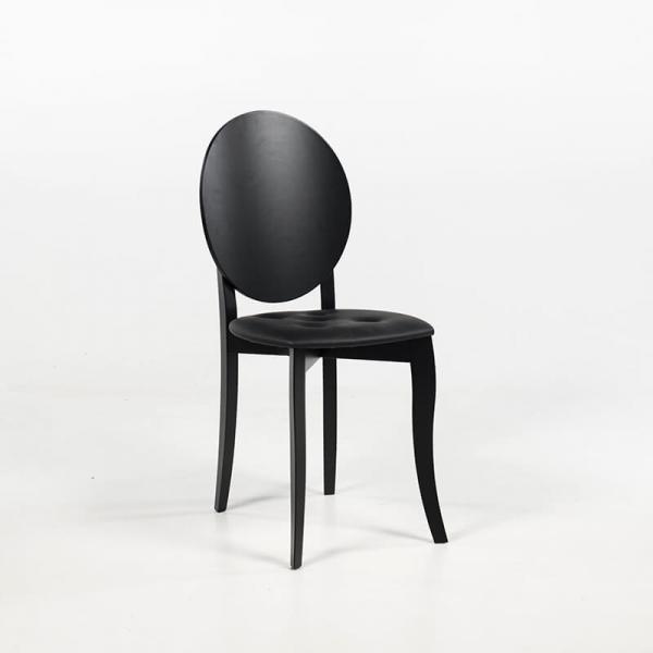 Chaise médaillon design italienne coloris noir - Antonietta - 5