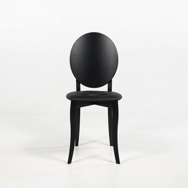 Chaise médaillon design italienne coloris noir - Antonietta - 6