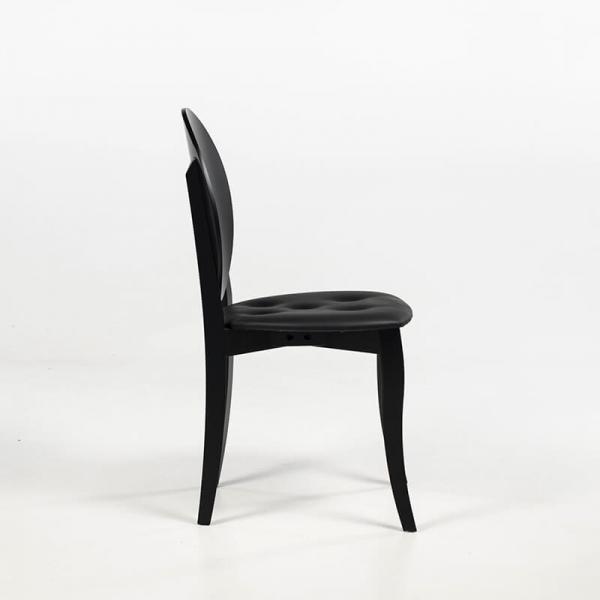 Chaise noire forme médaillon design italien - Antonietta - 7