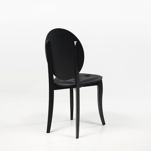 Chaise de style design italien coloris noir - Antonietta - 8