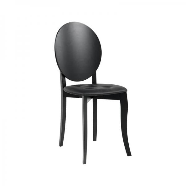 Chaise médaillon noire design italien - Antonietta - 4
