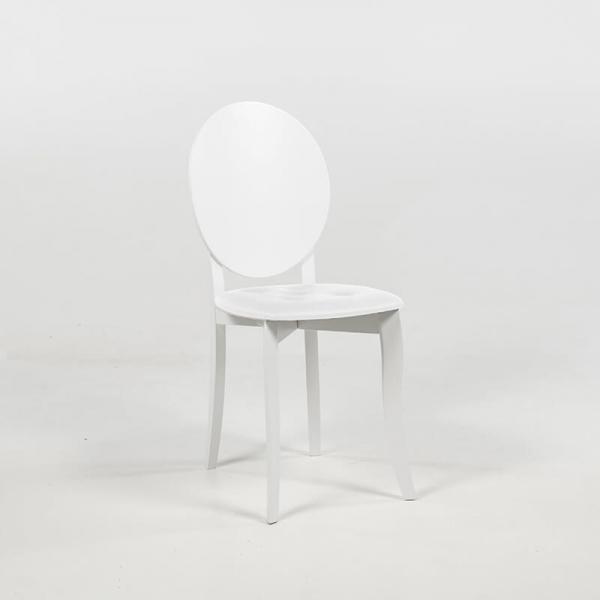 Chaise médaillon tendance italienne blanche - Antonietta - 11