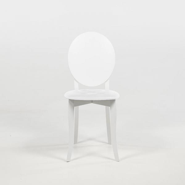 Chaise médaillon moderne italienne blanche - Antonietta - 12