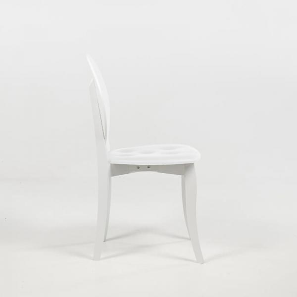 Chaise médaillon blanche design italien - Antonietta - 13