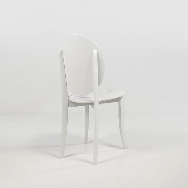 Chaise médaillon design italienne coloris blanc - Antonietta - 14