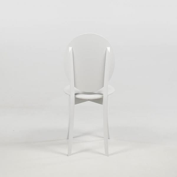 Chaise médaillon design italienne coloris blanc - Antonietta - 15