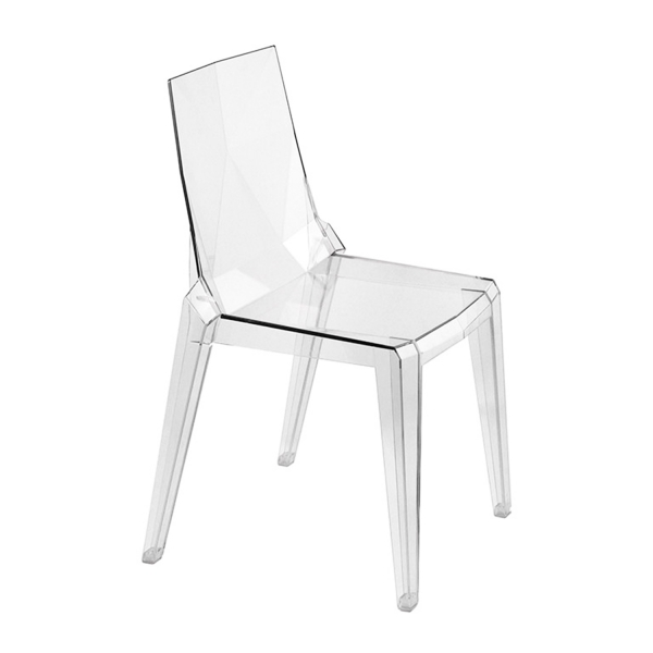 Chaise transparente italienne empilable - Ice - 5