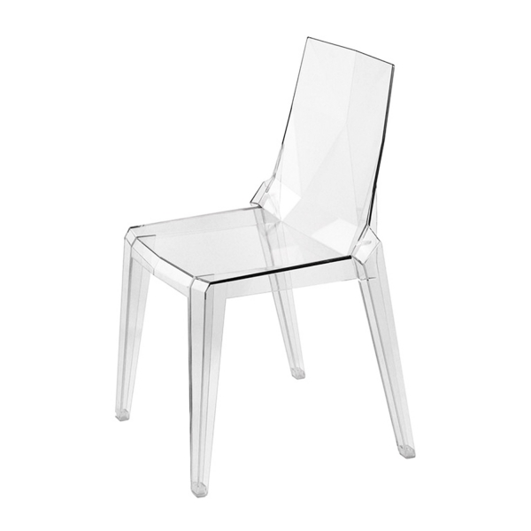 Chaise italienne en polycarbonate empilable - Ice - 6