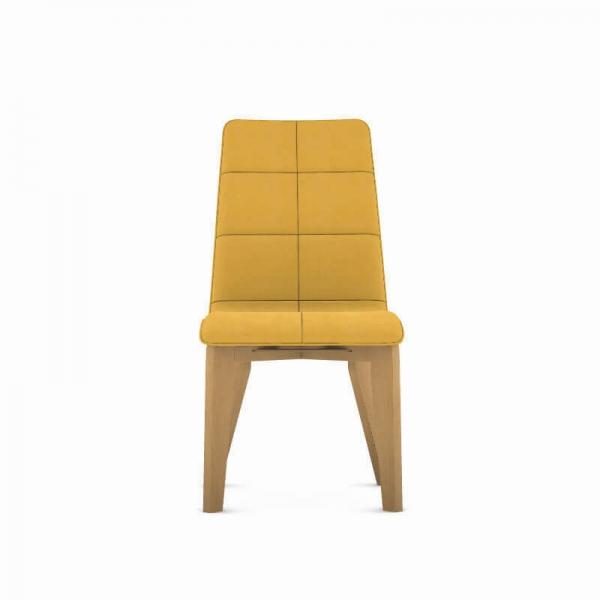 Chaise made in France moutarde en tissu et bois - Zao - 4