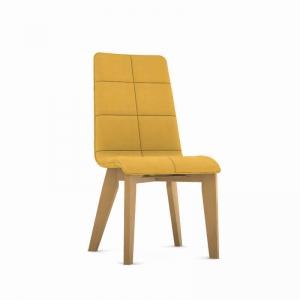 Chaise fabrication française revêtement tissu et pieds bois - Zao