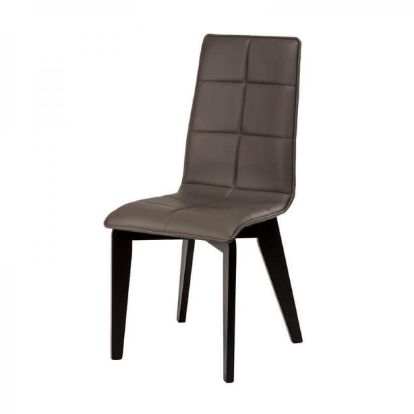 Chaise française matelassée en bois et synthétique - Zao - 2