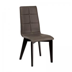 Chaise matelassée en synthétique et bois made in France - Zao