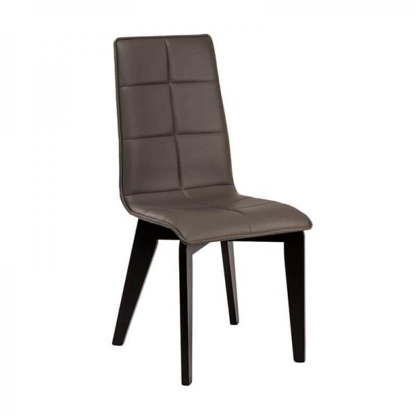 Chaise matelassée en synthétique et bois made in France - Zao - 1