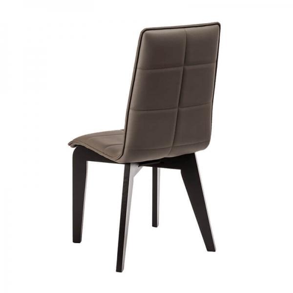 Chaise made in France matelassée en synthétique et bois - Zao - 4