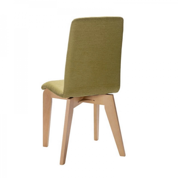 Chaise Made in France en tissu et pieds bois - Yam Eco - 8