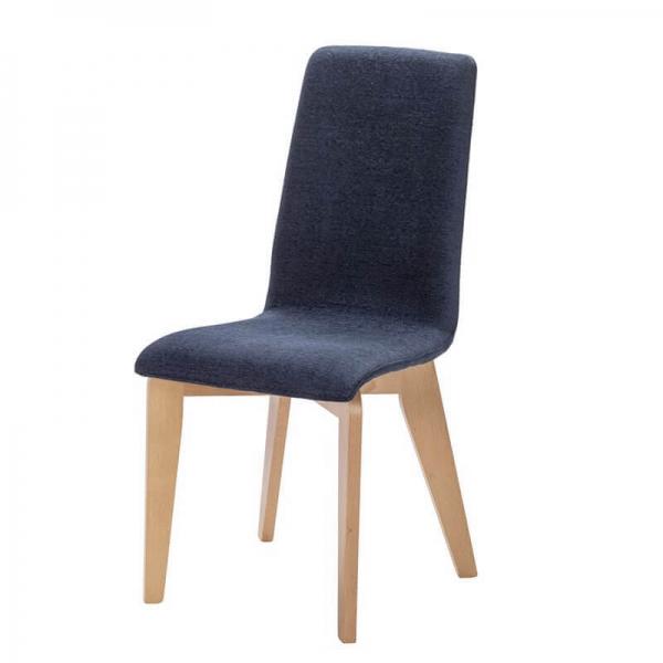 Chaise fabrication française bleue avec pieds bois - Yam Eco - 10