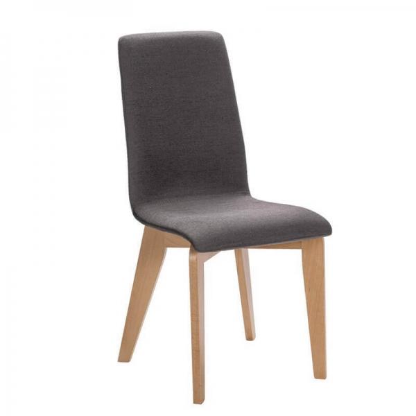 Chaise contemporaine française avec pieds bois et assise en tissu - Yam Eco - 13