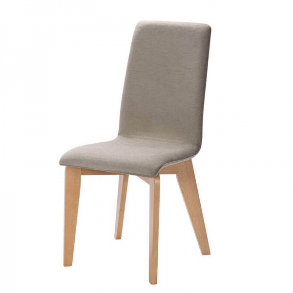 Chaise fabrication française avec assise tissu et pieds bois - Yam Eco - 22
