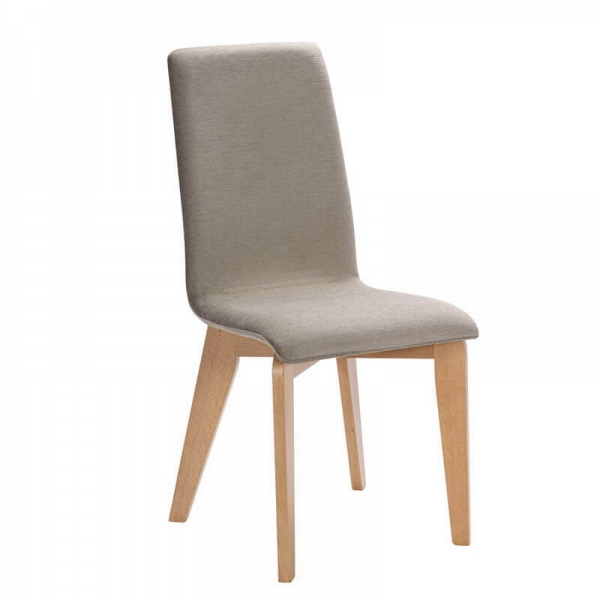 Chaise made in France en bois et tissu gris - Yam Eco - 21