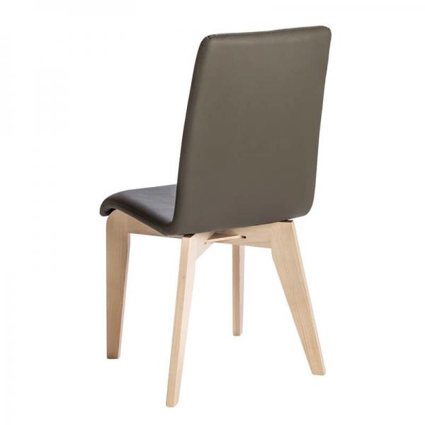 Chaise française en synthétique avec pieds en bois massif - Yam Eco - 12