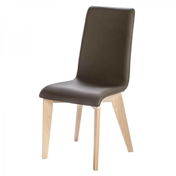 Chaise fabrication française avec pieds en bois massif et synthétique - Yam Eco - 9