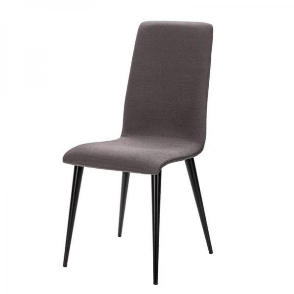 Chaise française avec pieds en métal et assise tissu - Yam Eco - 2