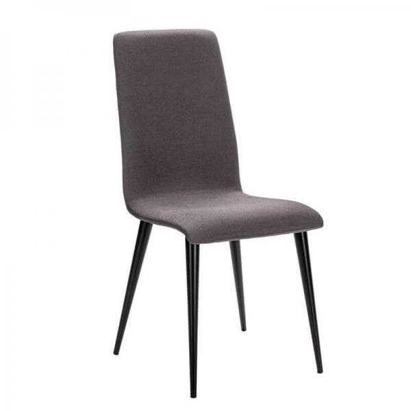 Chaise française en métal et assise tissu - Yam Eco - 1