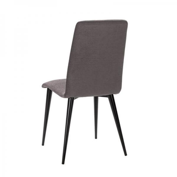 Chaise fabrication française en tissu et pieds métal - Yam Eco - 4