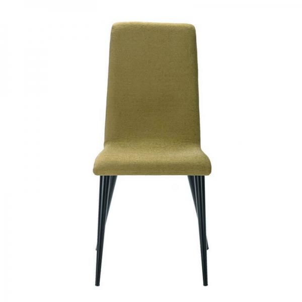 Chaise française en tissu vert et pieds métal - Yam Eco - 7