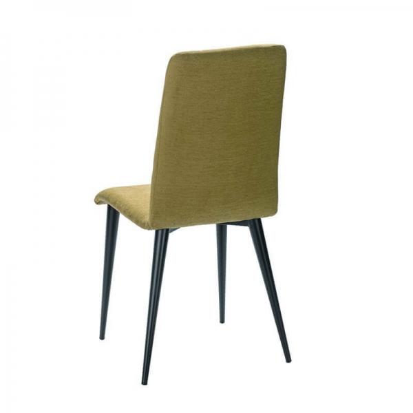 Chaise verte en tissu et pieds métal made in France - Yam Eco - 8