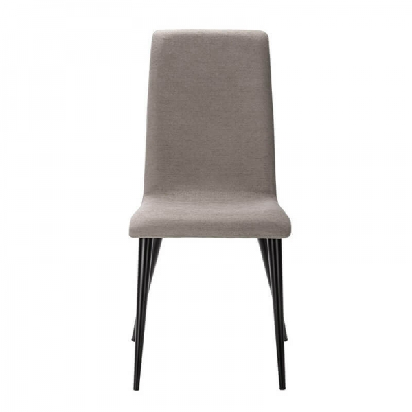 Chaise en tissu gris de fabrication française avec pieds en métal - Yam Eco - 11
