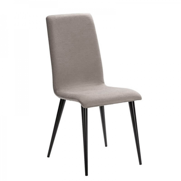Chaise grise en tissu et pieds métal made in France - Yam Eco - 9