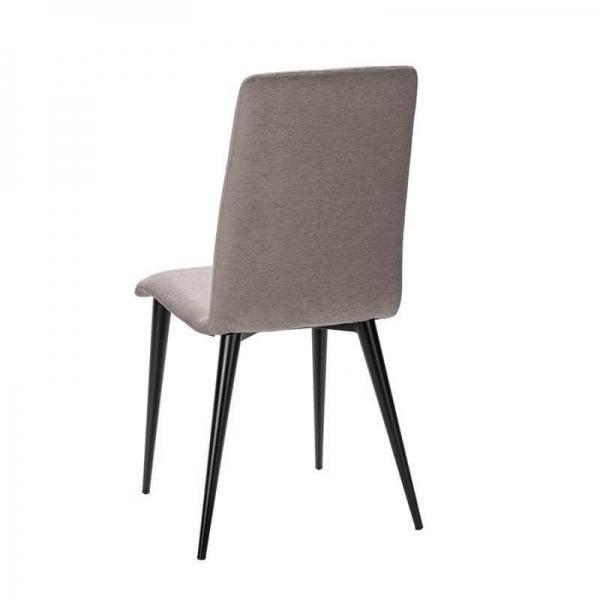Chaise française en tissu gris et métal - Yam Eco - 12