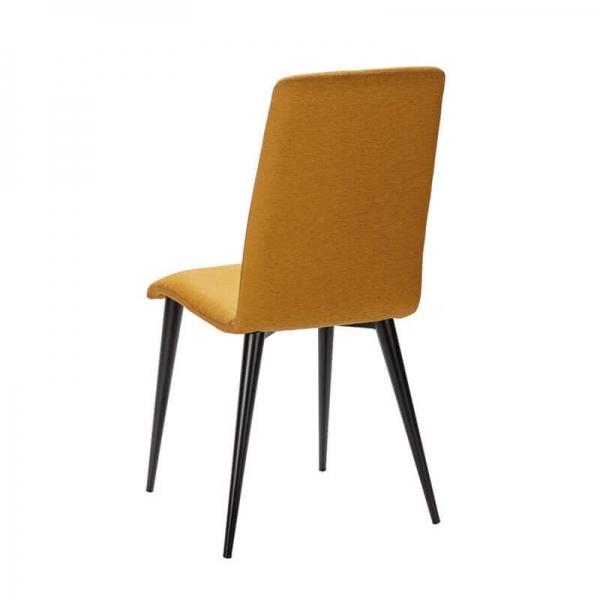 Chaise avec pieds métal et tissu moutarde fabrication française - Yam Eco - 16