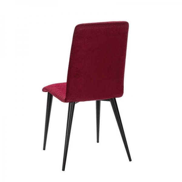 Chaise française en métal et tissu rouge - Yam Eco - 20