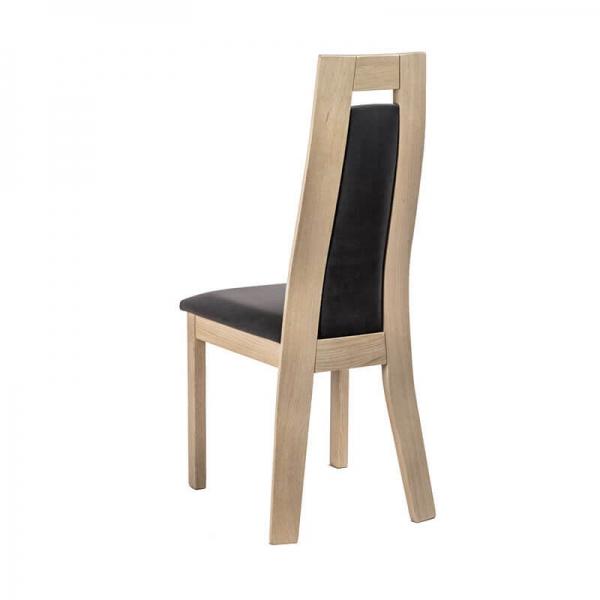 Chaise contemporaine fabrication française en bois et tissu - Cera - 3